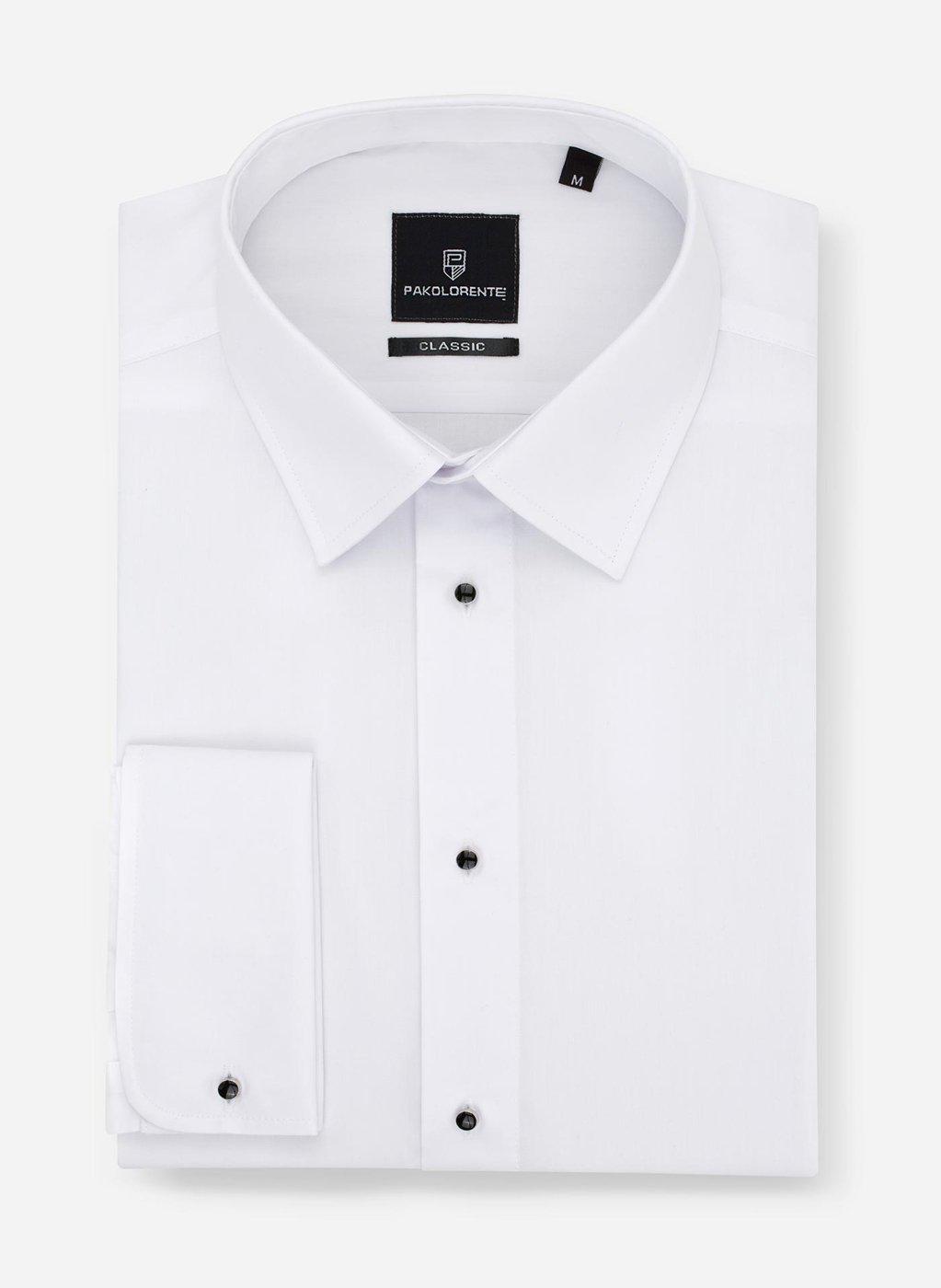 Koszula klasyczna męska w kolorze białym z mankietem  aRHol