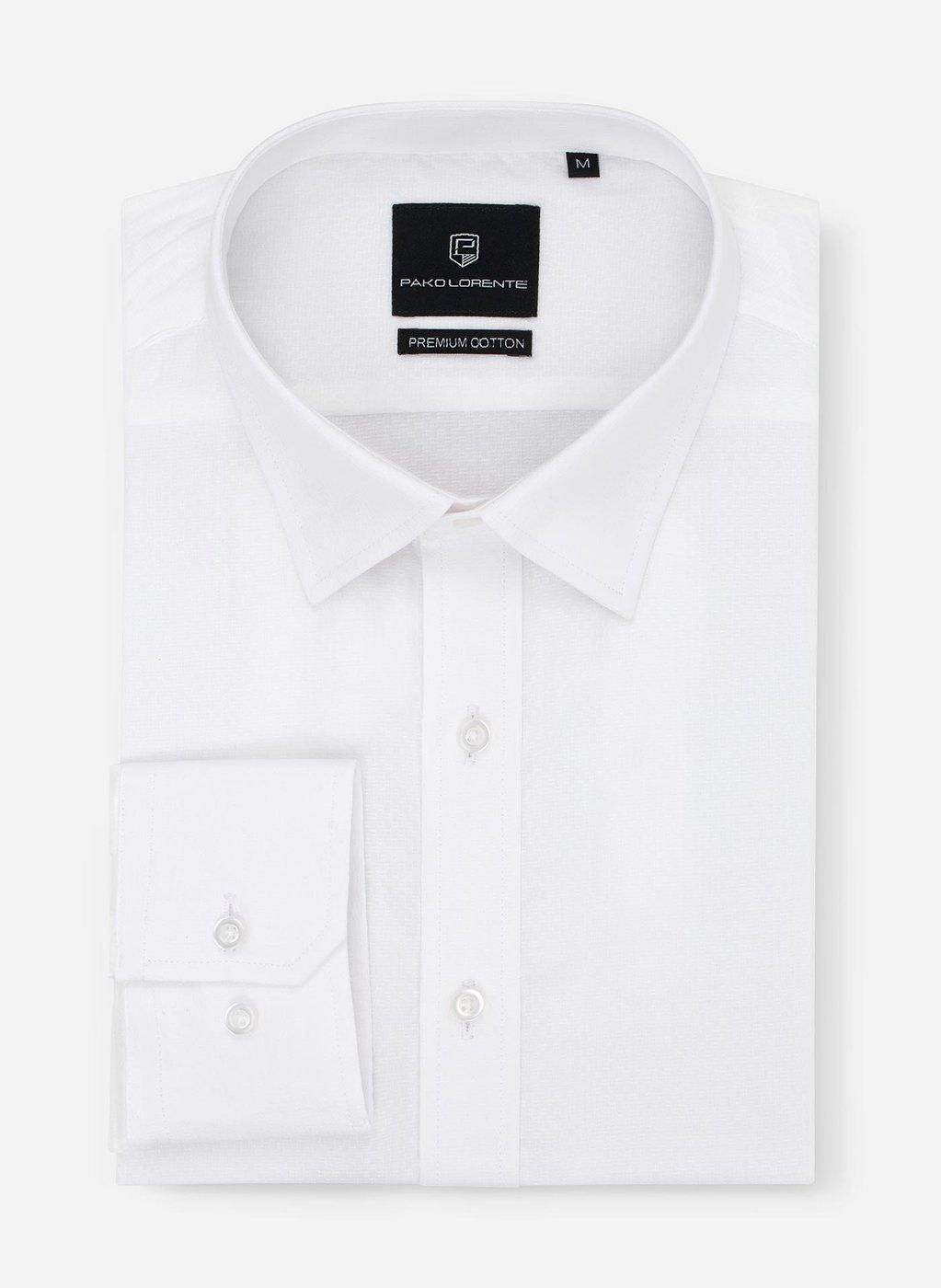 Biała koszula męska do stylizacji eleganckich i casualowych  2wVuT